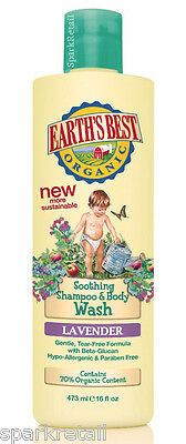 Jason Earth's Best Organic Soothing Babies Lavender SHAMPOO & BODY WASH 251ml
