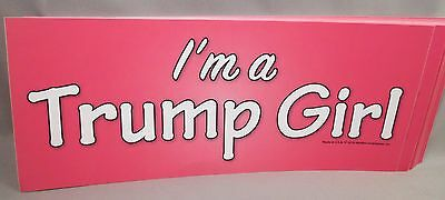 WHOLESALE LOT OF 20 I'M A TRUMP GIRL STICKER women for Donald President '16 PINK