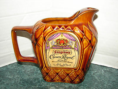 Seagrams Crown Royal Whiskey Water Pitcher Excellent