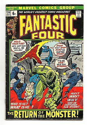 Fantastic Four Vol 1 No 124 Jul 1972 (FN+) Marvel,Bronze Age (1970 - 1979)