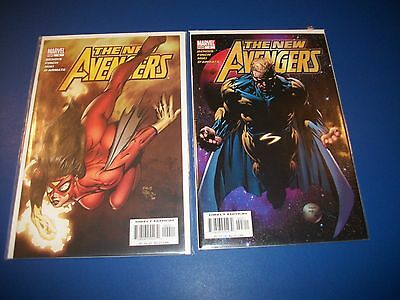 New Avengers #3 VF, 4 NM Lot of 2 Comic Books Sentry 1st Maria Hill Key Wow!