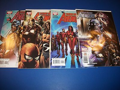 New Avengers #6,7,8,10 Comic Book lot of 4 Spider-man Wolverine Iron Man Wow!