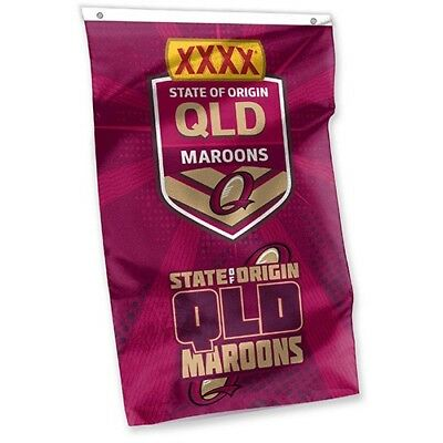 """""""New 2017 RUGBY LEAGUE STATE OF ORIGINE QLD MAROONS CAPE FLAG"""" Licensed Product"""