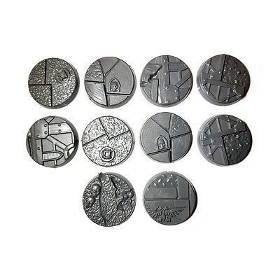 10 x SECTOR IMPERIALIS 25mm ROUND BASE - Games Workshop 40K