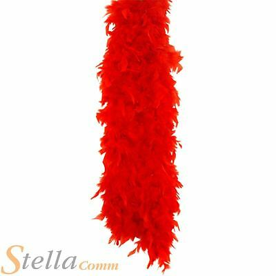 150cm Red Feather Boa 20s 30s Fancy Dress Costume Hen Night Accessory