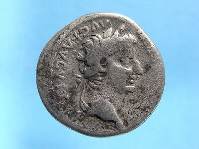 Scarcer Roman Silver Biblical Tribute Penny Of Tiberius. R: PAX 14~37 AD (C934)