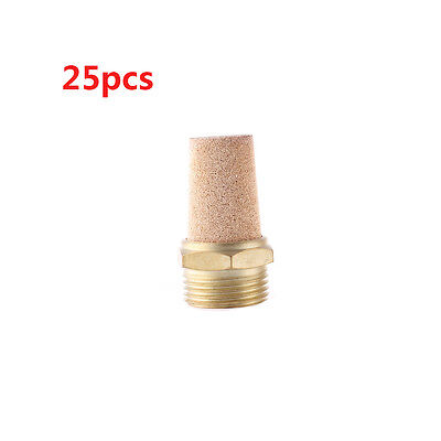 "G2"" PT Male Thread Brass Pneumatic Valve Muffler Silencer 25 Pcs"
