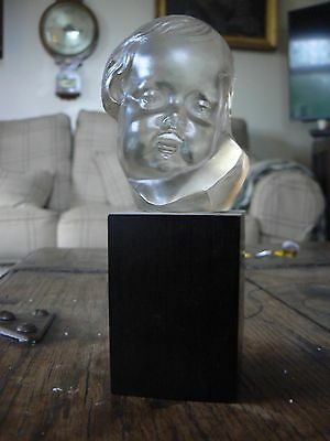 Unusual French Glass Sculpture Of Baby Napoleon Signed Tournayre (Emile)
