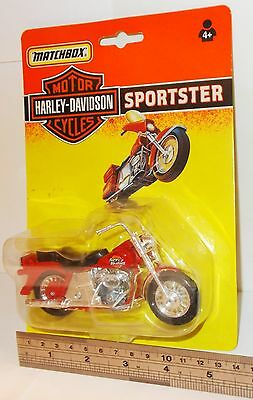 Matchbox Motor Cycles - Harley-Davidson, Sportster, Red - Sealed Pack. (Vintage)