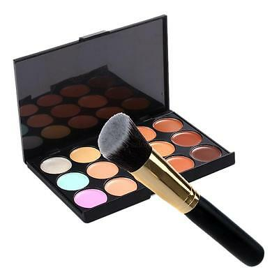New 15 Colors Party Concealer Palette Kit with Brush Face Makeup Contour Cream