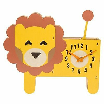 Kidcraft Child's Wooden Lion Clock with Moving Tail Pendulum