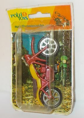 Polfi Toys Metallic Motorcycles - Trail Bike, Red/Yellow - Sealed Pack.(Vintage)