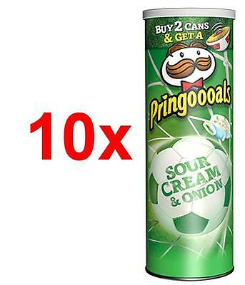 10x Pringles Pringoooals Sour Cream & Onion 190g Chips Sonderedition 1,9kg