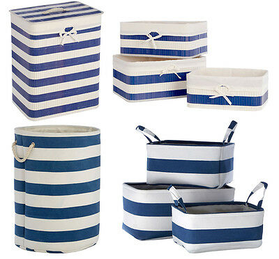 Kankyo Nautical Home Living Accessories Storage Baskets Clothes Laundry Hamper