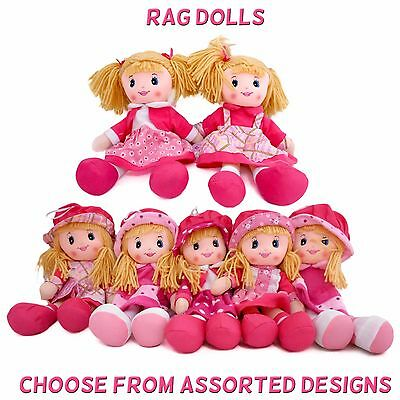 Girlie PAWS - 30cm Cute Pink RAG DOLL Dolly - Assorted Designs