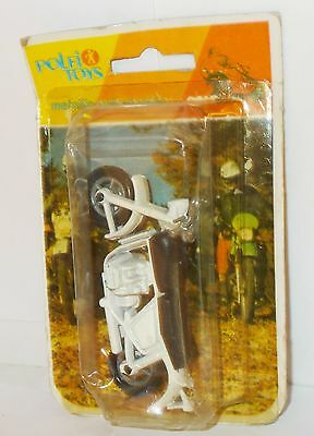 Polfi Toys Metallic Motorcycles - Motorcycle, White/Black, In Pack.(Vintage)