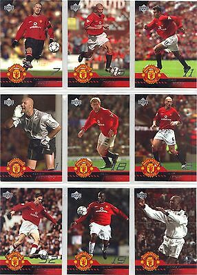 MANCHESTER UNITED 2001 BASE / BASIC  CARDS by UPPER DECK  :  CHOOSE