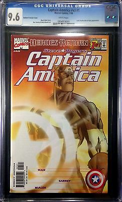 Captain America (1998) #1 CGC 9.6 Sunburst variant Heroes Return (0804918001)