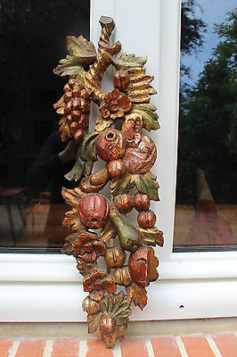 French Carved Wood, Flowers And Fruits
