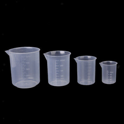 50,100,150,250,500ml Small plastic graduated measuring beaker/cup/container