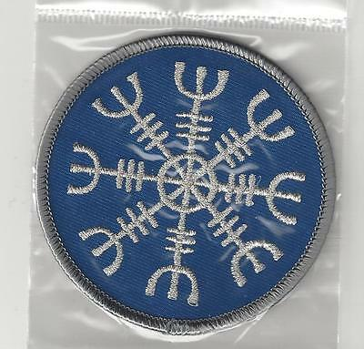 Iceland Souvenir Patch - Icelandic Magic Symbol - The Helm Of Awe