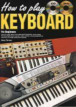 HOW TO PLAY KEYBOARD for Beginners Bk CD&Free DVD*