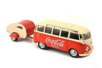 COCA COLA Modellino VOLKSWAGEN SAMBA BUS 1962 DieCast 1/43 Motor City MODEL Car