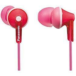 Panasonic RP-HJE125 Stereo In Ear Canal Bud Ergofit Headphones 3 Sizes Pink New