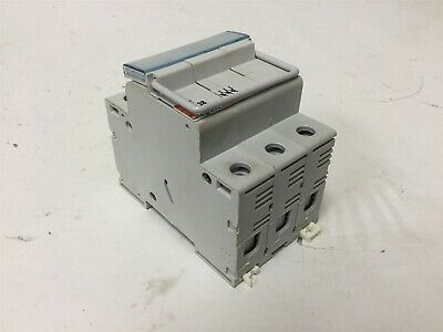 Legrand 058 38 Fuseholders, 3-Pole, With 3 Fuses Rated 4A 500V, DIN Rail Mount