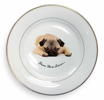 Pug Dog Glass Paperweight in Gift Box Christmas Present AD-P92PW