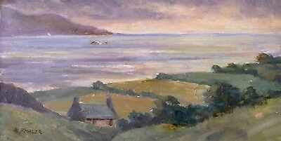 Fine old signed oil painting of the 'Dee Estuary'