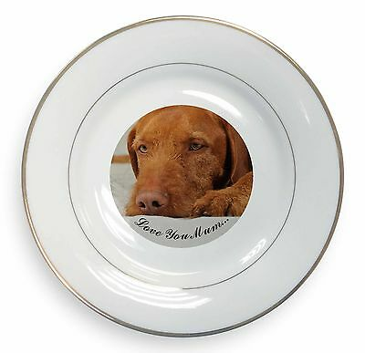 Hungarian Vizsla /'Love You Mum/' Photo Slate Christmas Gift Ornament AD-V3lymSL