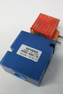 Hydraulic spool valve, 2/3, 24VDC solenoid, 5000psi, 14C32S-A24H-T8, Waterman