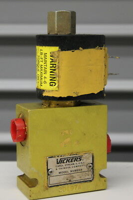 3 way, 2 position spool type solenoid valve, 3000psi, 24VDC, Vickers
