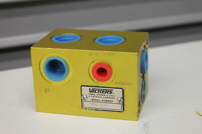 Hydraulic Manifold Cartridge block Vickers MCD3941
