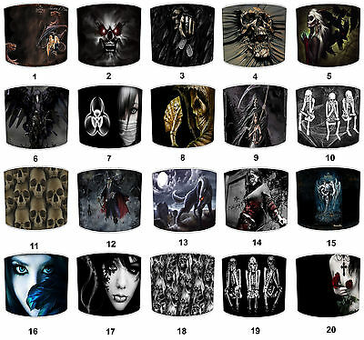 Lampshades Ideal To Match Alchemy Gothic Magistus Grim Reaper Skeletons Cushions