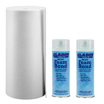 """Gladon AG85 1//8/"""" x 48/"""" x 85/' Above Ground Waveless Wall Foam White Color AG85W"""