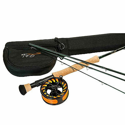 "TFO NXT 5/6WT 9'0"" 4 PC Fly Fishing Rod and Reel Outfit - Green (TF NXT 5/6)"
