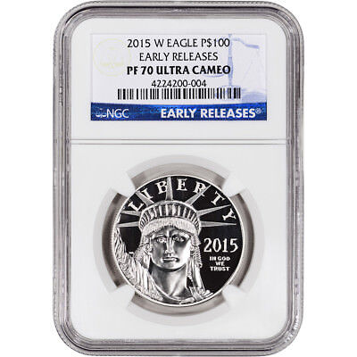 2015-W American Platinum Eagle Proof (1 oz) $100 - NGC PF70 UCAM Early Releases