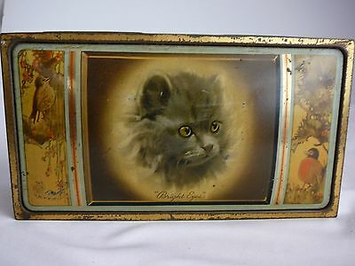 "MacRobertson ""Bright Eyes"" Chocolate Toffee tin - cat rare collectable Vintage"