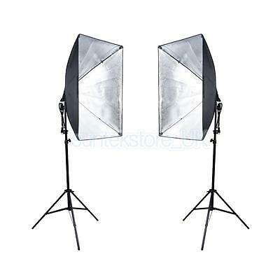 2x 135W Photography Studio Softbox Video Soft Box Continuous Lighting Stand