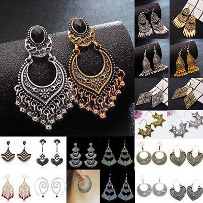 Indian Bollywood Jewelry Gold Plated Wedding Wear Traditional Polki Earrings New