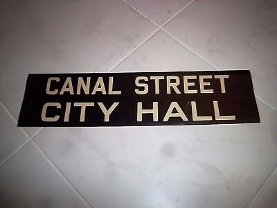 Vintage Collectible R10 Nyc Ny Bmt Subway 1948 Roll Sign Canal Street City Hall