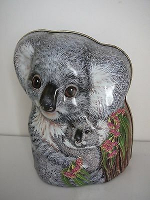 Stuhler's Patisserie Koala Shaped Tin Money Box Biscuits Collectable Advertising