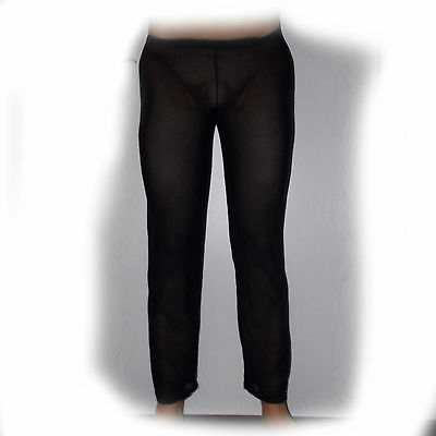 Sheer pants - stark transparent - sexy Schwarz M  (073)