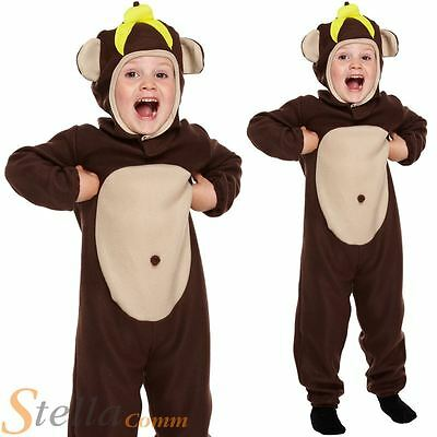 Toddler Monkey Costume Child Animal Boys Girls Fancy Dress Outfit Age 2-3