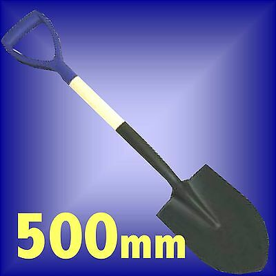 Silverline Mini Round Nose Spade 500mm dig lightweight car boot camping steel