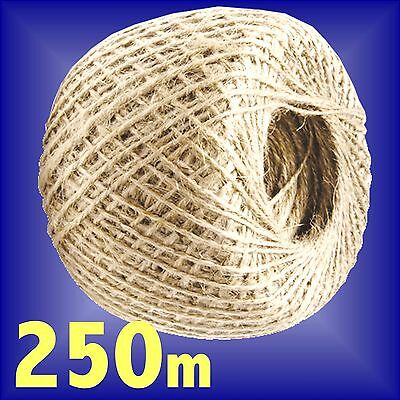 Garden Twine 250m natural jute ball of string tie back plant ties line