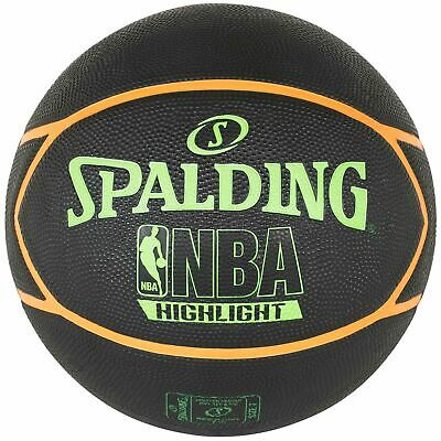 Spalding Basketball NBA Highlight Outdoor Streetbasketball schwarz/grün Gr. 7