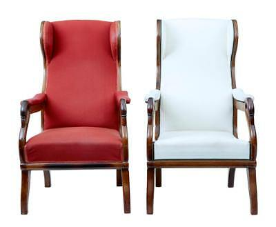 Pair Of 19Th Century Danish Mahogany Swan Neck Armchairs